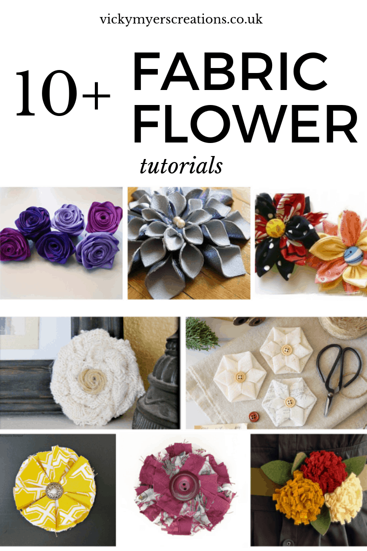 10+ Easy fabric flower tutorials 2