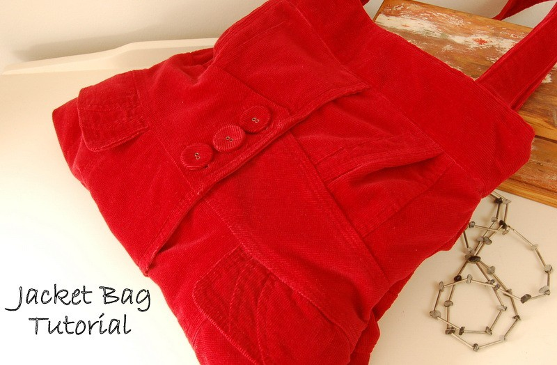 Create a bag out of a former jacket #tutorial Jacket Bag Tutorial