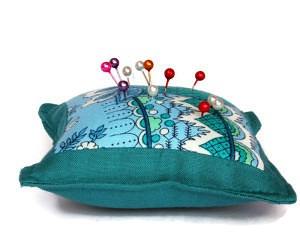 Tourqouise pin cushion