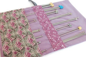 lilac knitting needle case