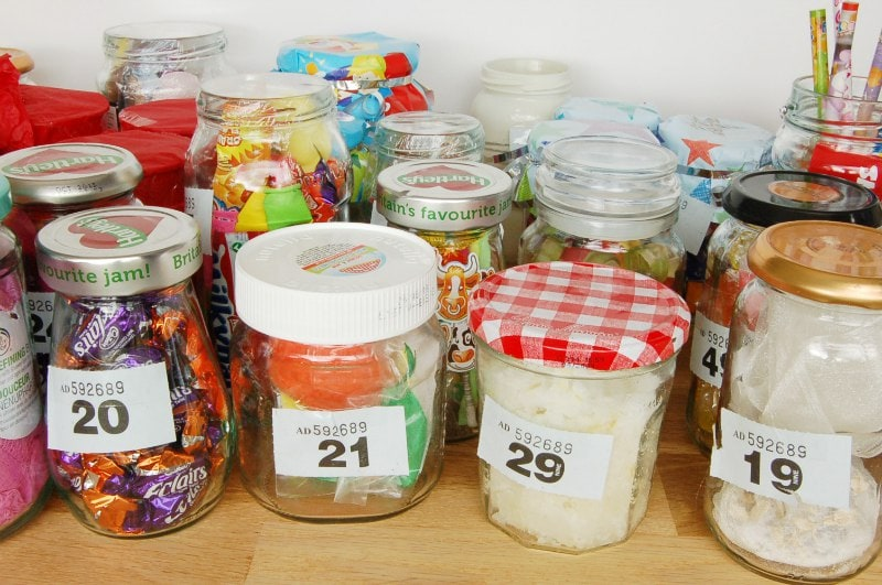 20 Jam Jar Tombola Ideas