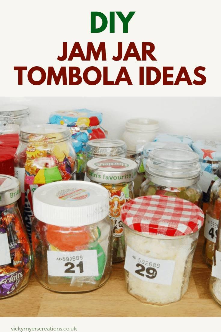 Jam jar tombolas are a great way to fundraise, twenty ideas to fill your jam jars for the tombola. #jamjartombola #jamjarfundraiser