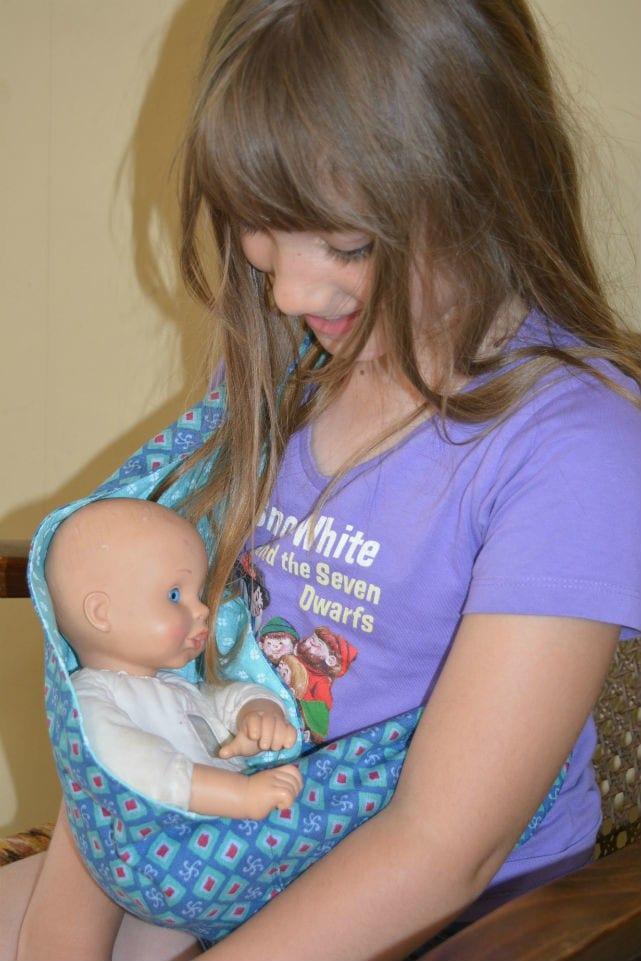 Dolls baby sling 2