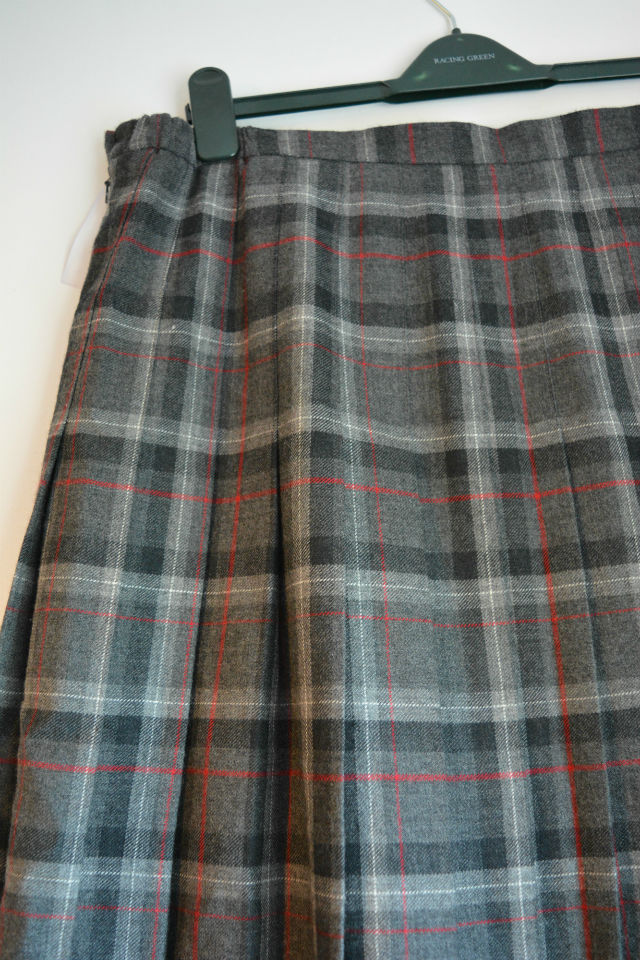 Tweed woollen skirt