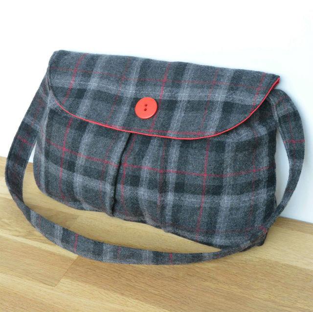 tweed handmade bag