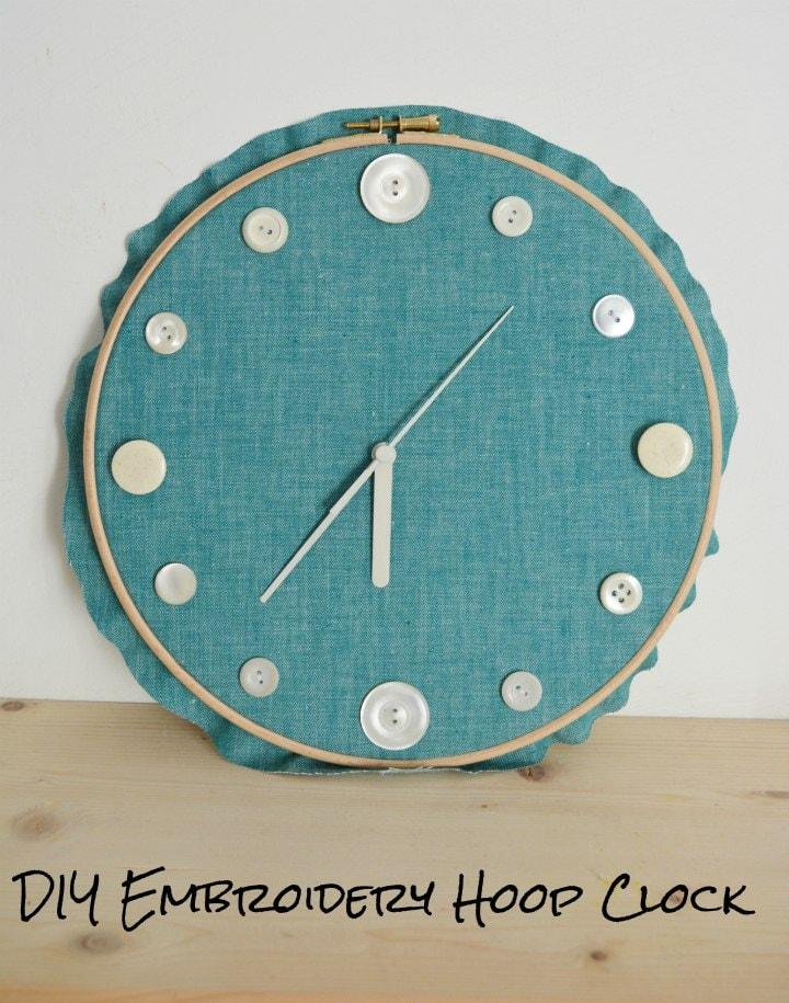 DIY Embroidery Hoop Clock