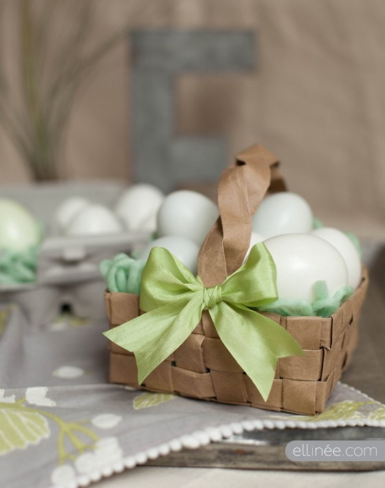 Brown Paper EasterBasket