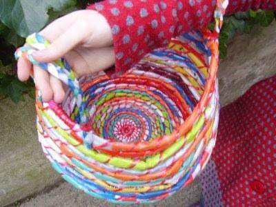Plastic Bag Basket