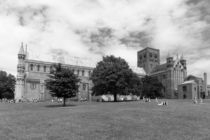 church black & white