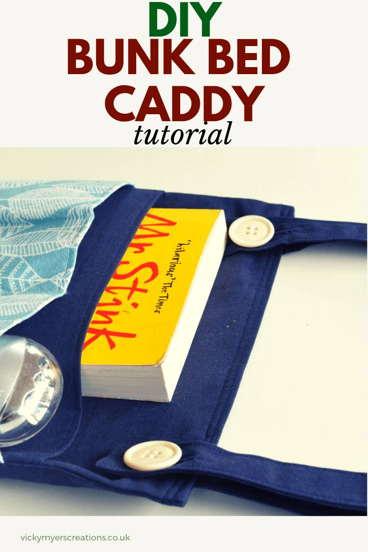 DIY Bedside Pockets Organizer make a great gift- free sewing tutorial. Learn how to make the perfect bunk bed caddy bag #sewingpattern #bedsidecaddy