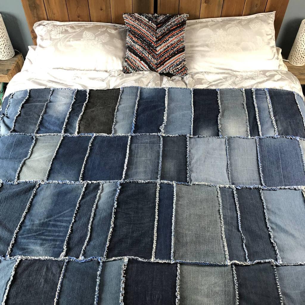 How to make a Rag Quilt - DIY Denim Quilt 6