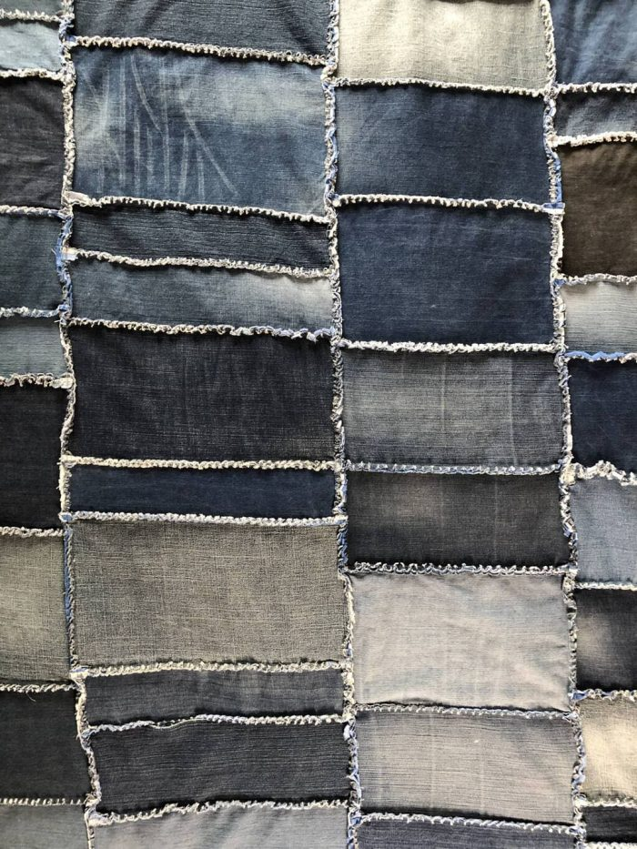 How to make a Rag Quilt - DIY Denim Quilt 4