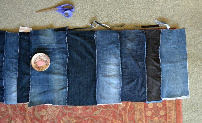 Trim denim panel