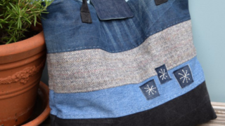 How to make a large denim tote bag