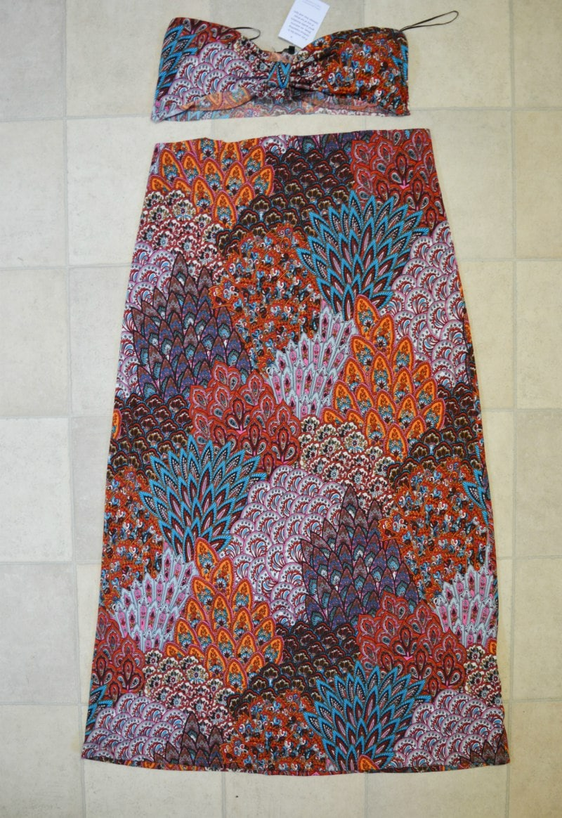 Cut dress to create skirt