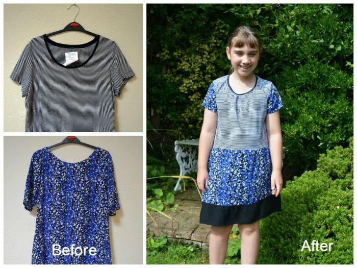 T Shirt to Dress Refashion