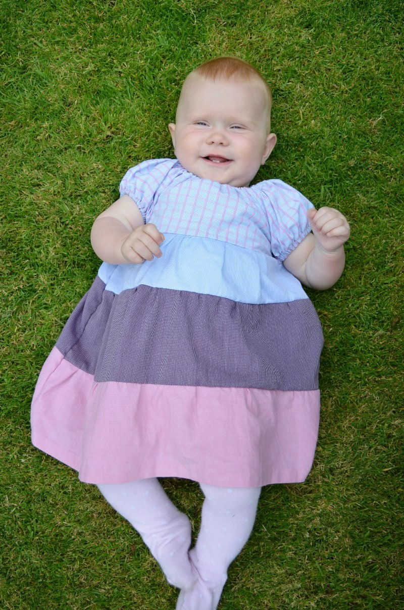 Toddler Dress Pattern, use four mens shirts to create a stylish toddelr dress