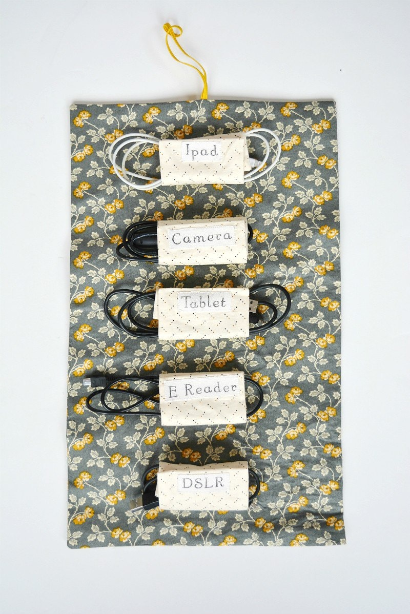 DIY CAble Tidy - Fabric Cable roll with step by tep tutorial