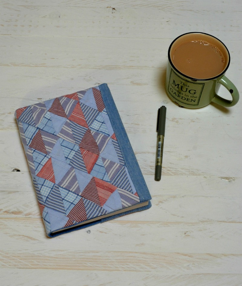 Quilted notebook cover
