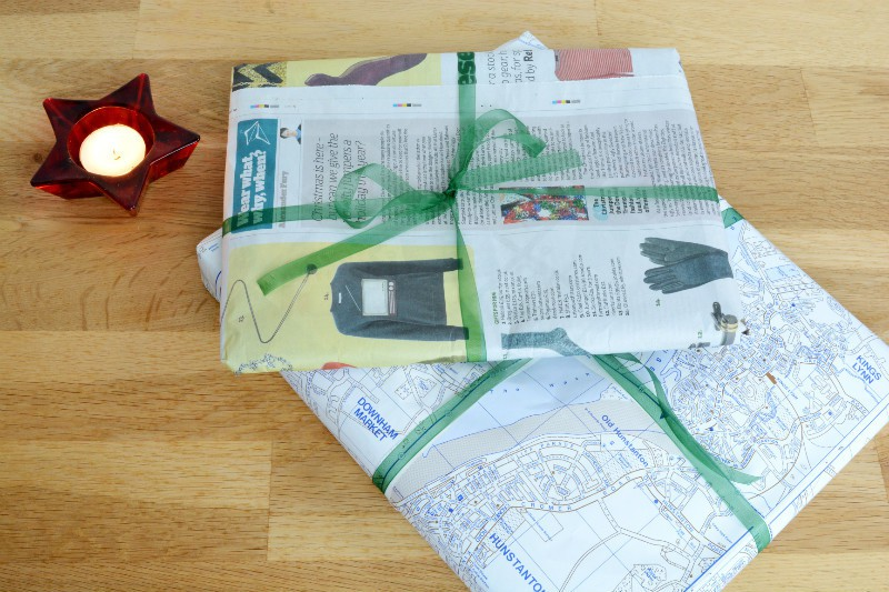 paper wrapping of gifts