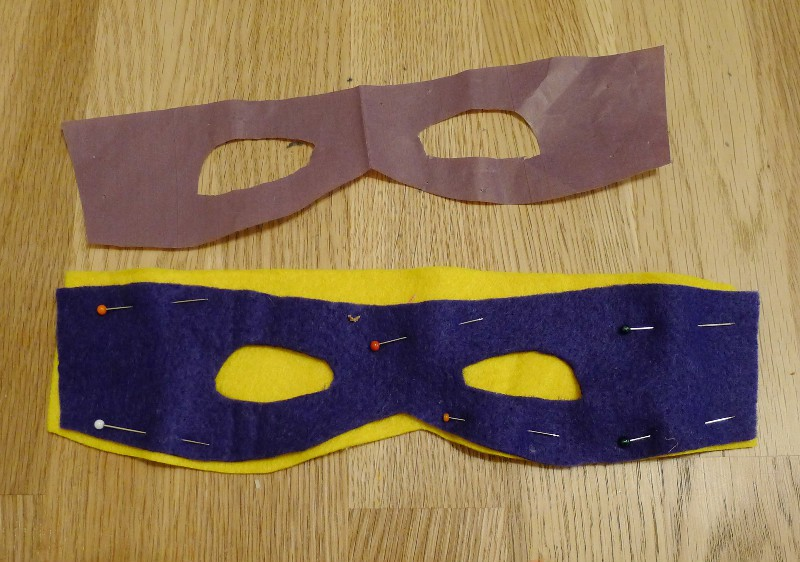 DIY Suoer Hero dressing up costume, felt face mask