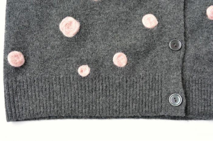 Needle felt repir to a wool cardigan vickymyerscreations