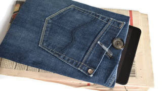 Upcycled Denim Tablet Case
