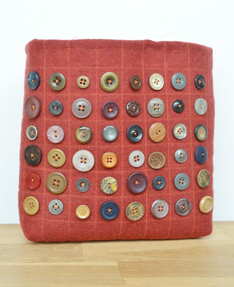 Button bag in progress