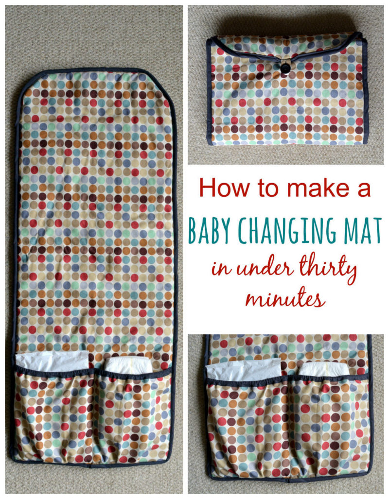 Handmade changing bag with baby taggy, a great gift set 2