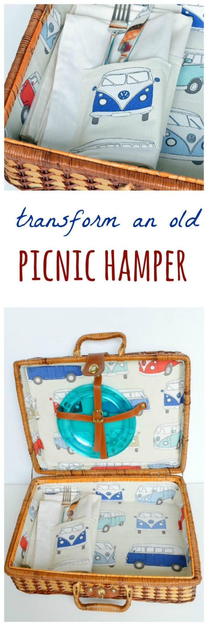 How to line a picnic hamper (post sponsored by Volkswagen) 4