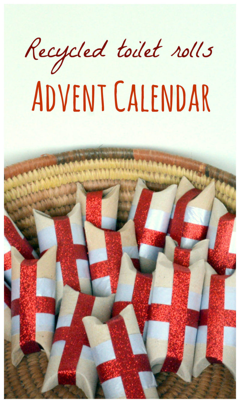 DIY advent calendar from toilet rolls 2