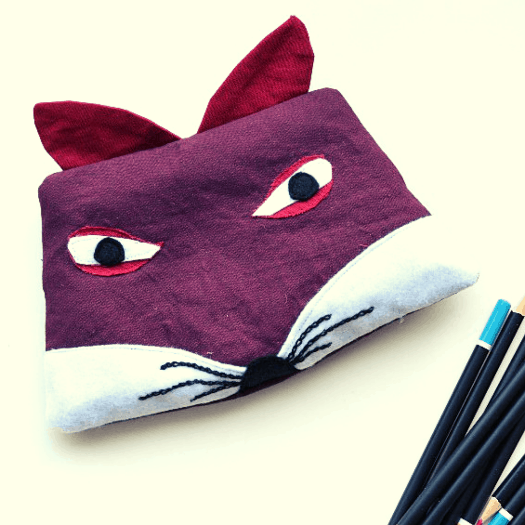 Create a fox pencil case, a perfect stocking filler gift