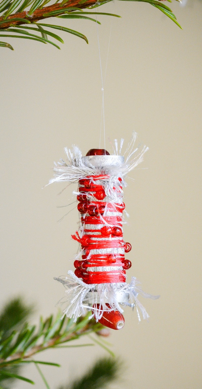 Recycle Plastic Cotton Reels - Upcycled Christmas Decoration 2