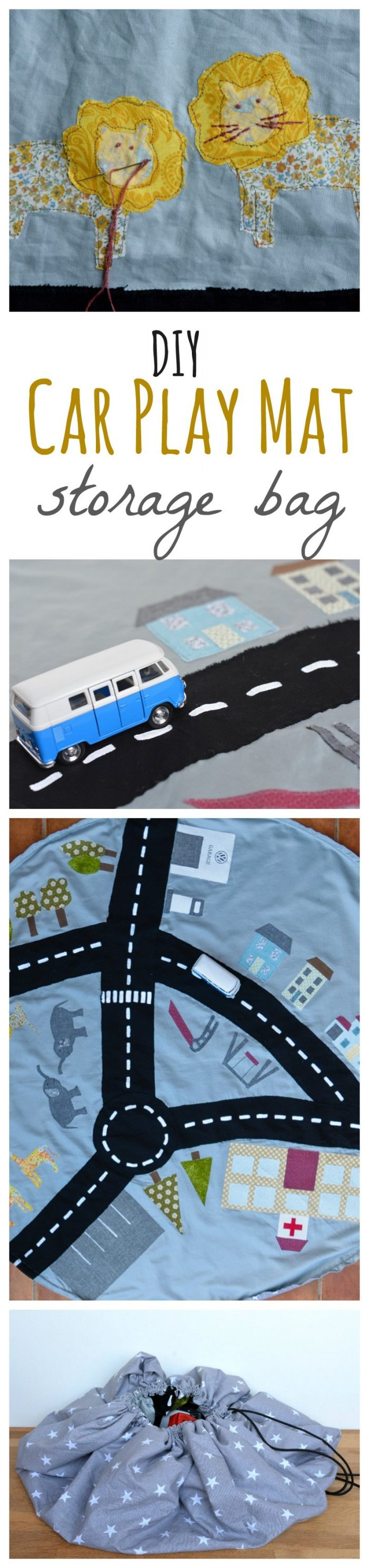 DIY drawstring car play mat (post sponsored by Volkswagen) 2