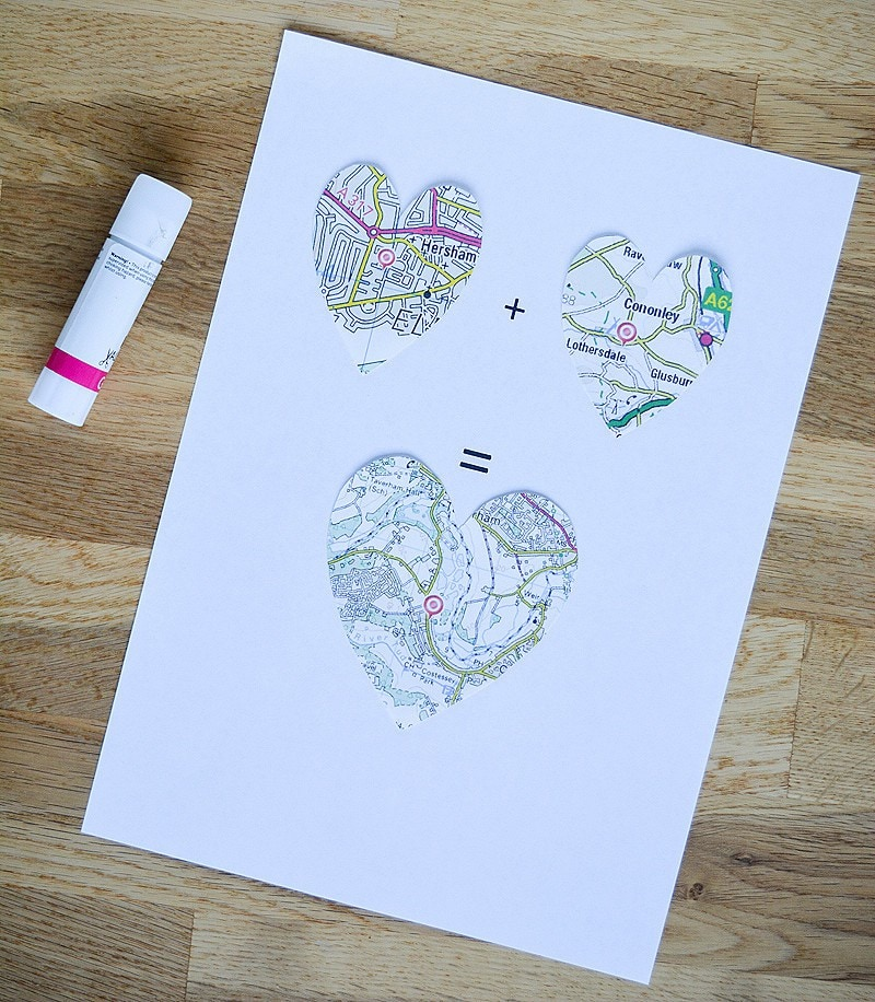 DIY Valentines heart and key picture 8