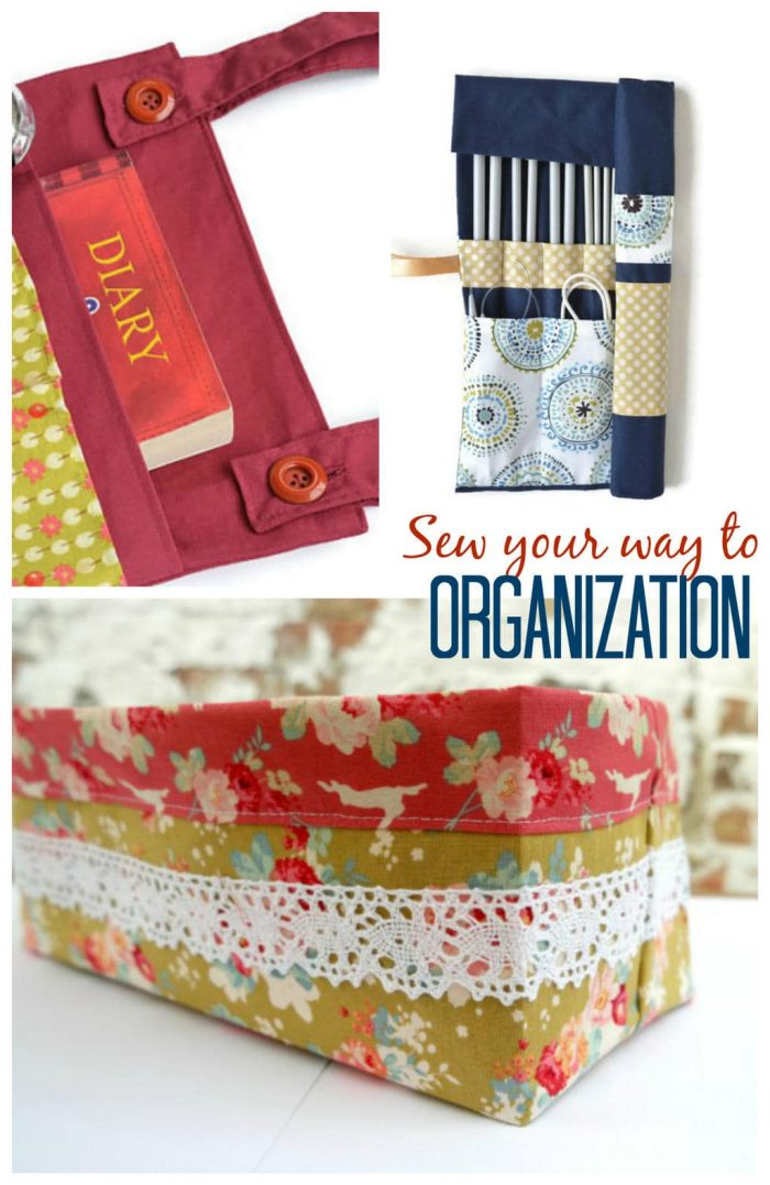 Looking to orgnaize your home? Love pretty fabrics? sew up some fabulous DIY storage solutions with these great tutorials for around your home #DIYorganization #DIYstorage #storagesolutions