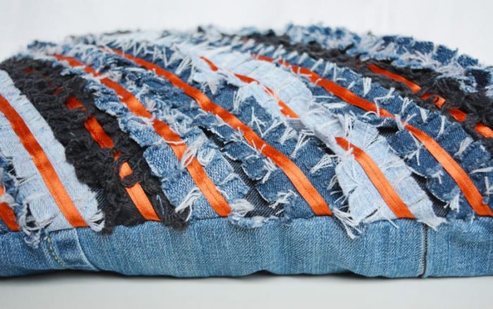 DIY Denim Cushion - Chevron 22