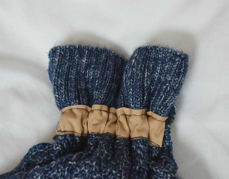 DIY Sweater Hot Water Bottle Cover 6