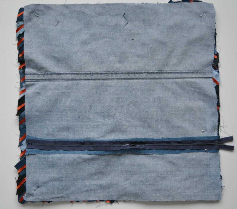 DIY Denim Cushion - Chevron 20