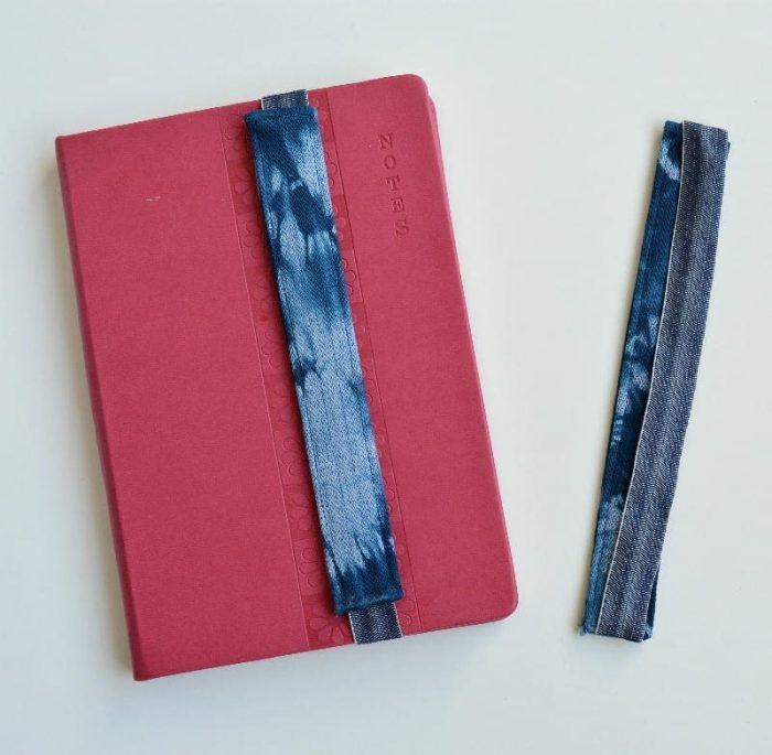 Create your own shibori book marks 16