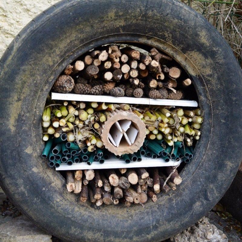 DIY Tyre Bug Hotel