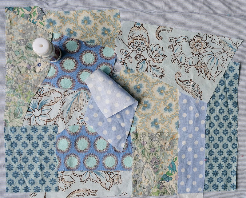 What to make with fabric scraps?? Free fabric scraps clutch tutorial 6