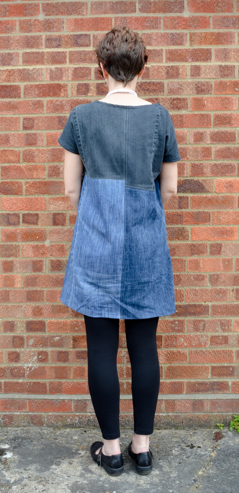 Upcycled Essential Denim Dress Pattern Review 10