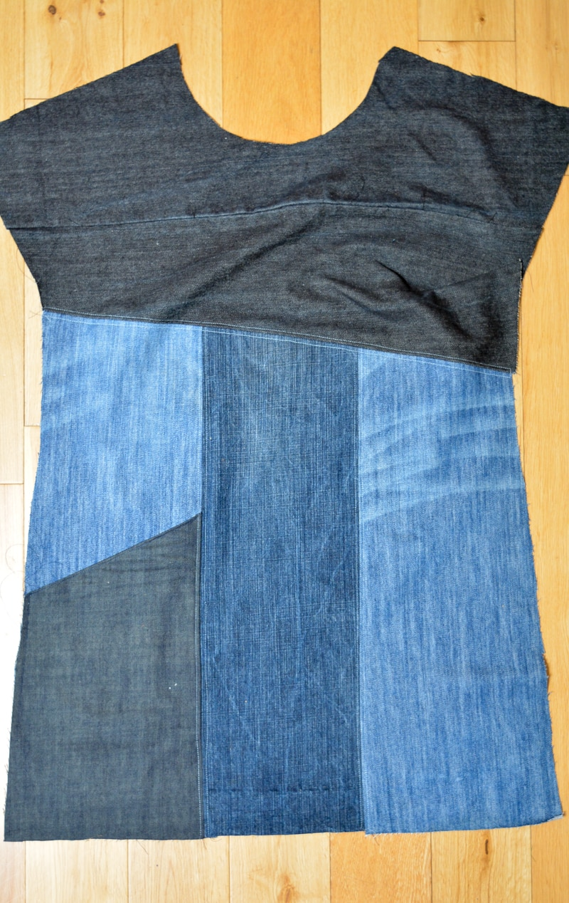 Upcycled Essential Denim Dress Pattern Review 6