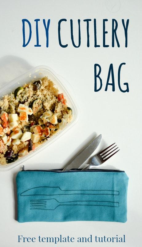DIY Cutlery bag, Sewing tutorial for zip cutlery bag