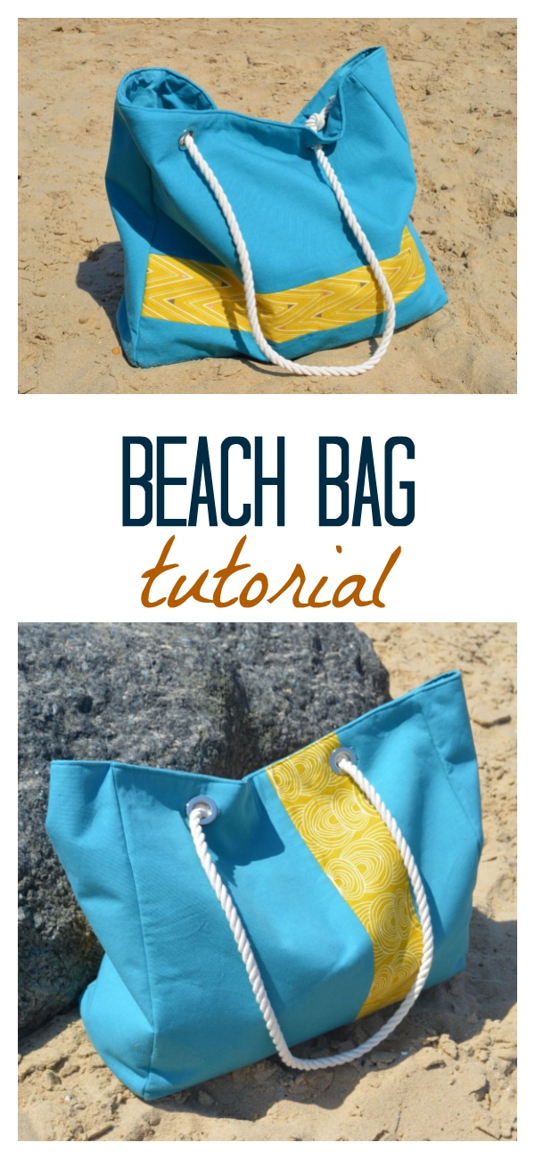 Free large beach bag pattern with pockets 2