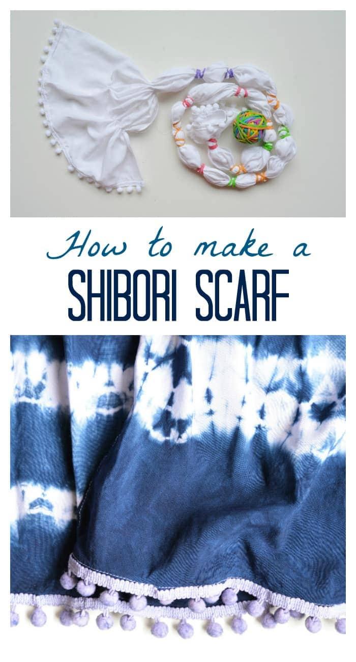 Learn how to make a shibori scarf, DIY, step by step tutorial