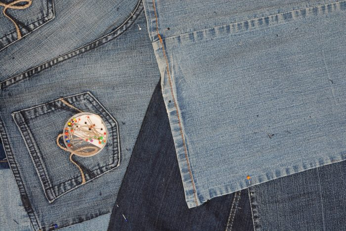 Denim Upcycled Bedroom Chair 10