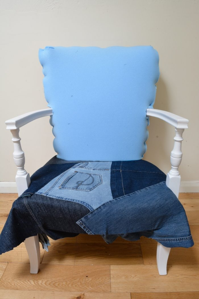 Denim Upcycled Bedroom Chair 20