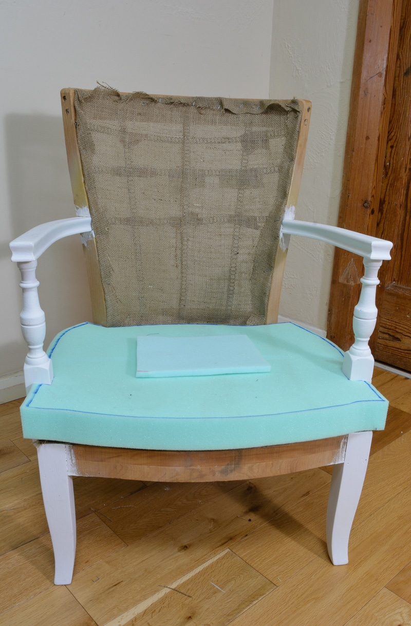Denim Upcycled Bedroom Chair 16